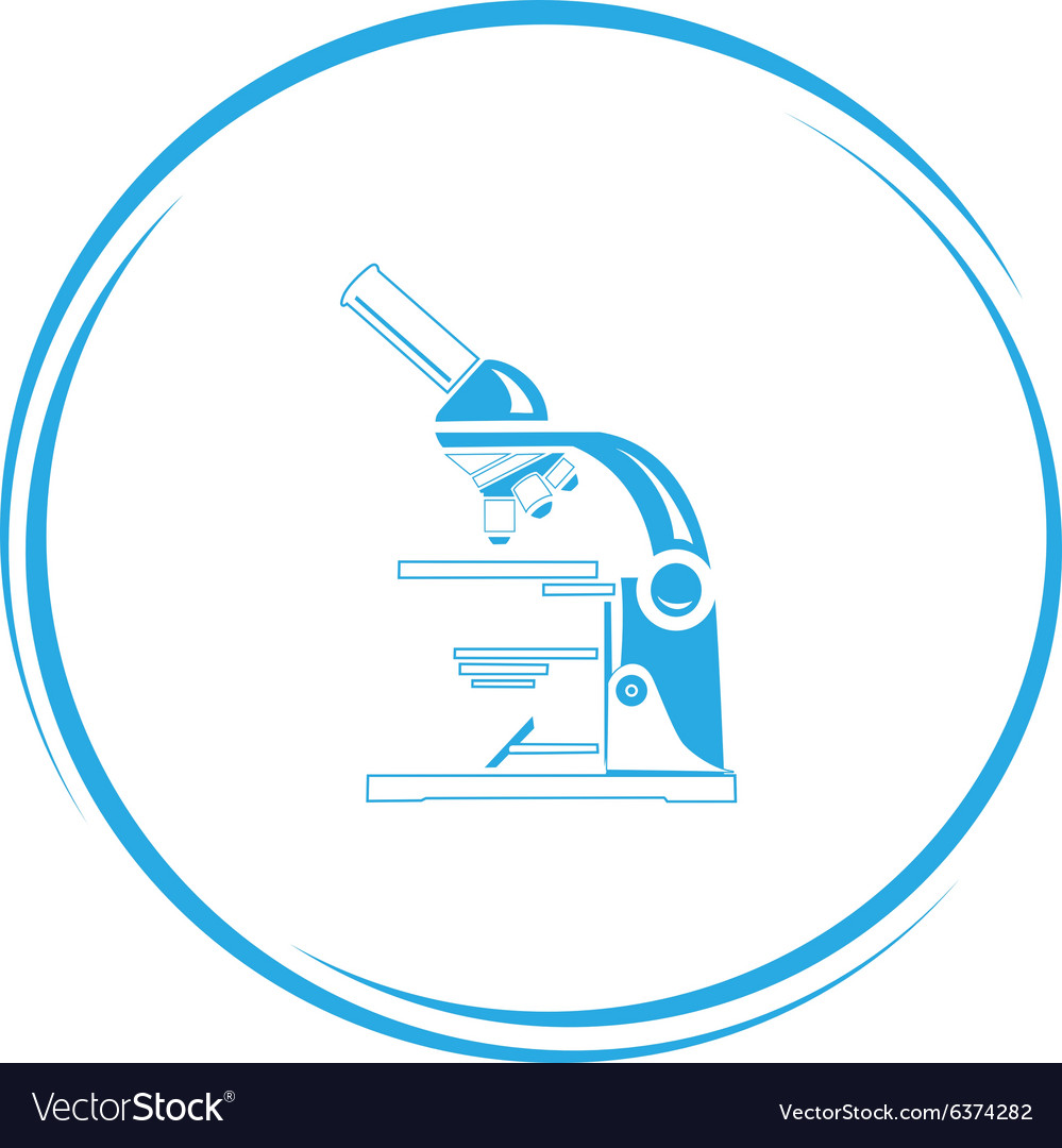 Lab microscope vector