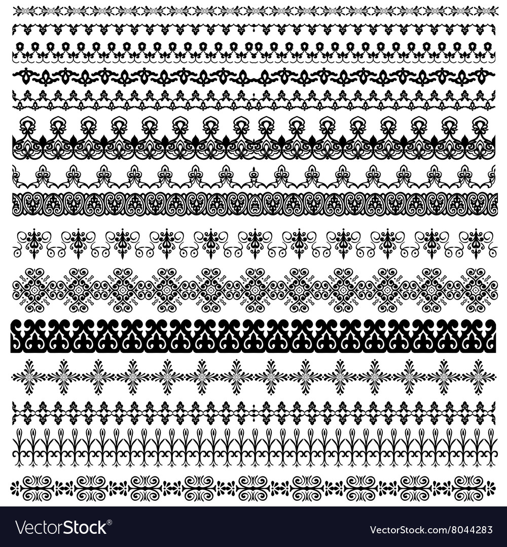 Border decoration elements pattern vector
