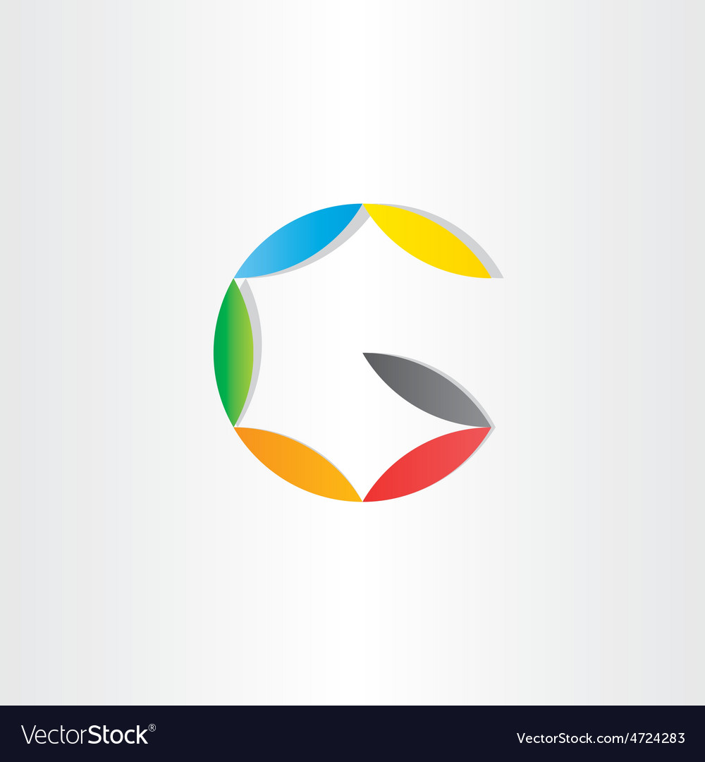Letter g colorfull symbol vector
