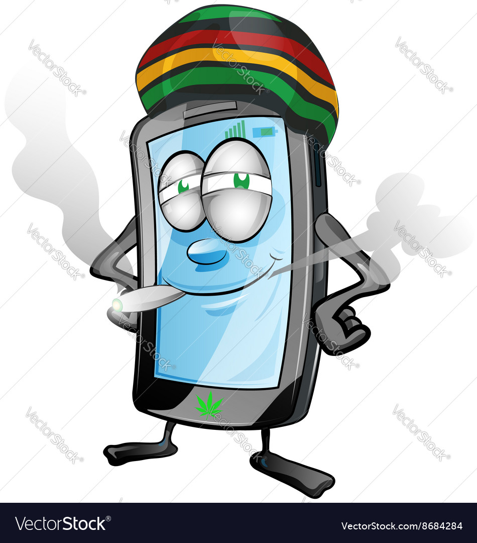 Jamaican fun mobile cartoon vector