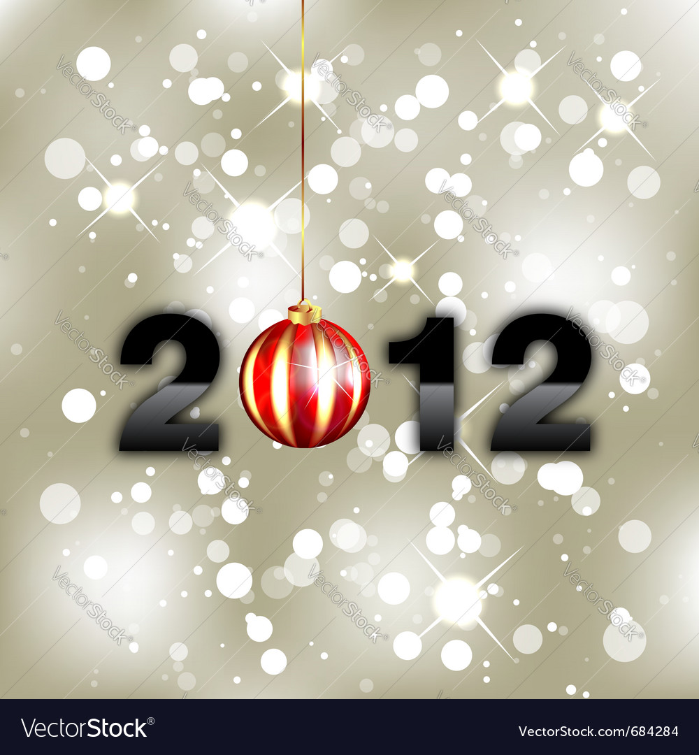New year background 2012 vector