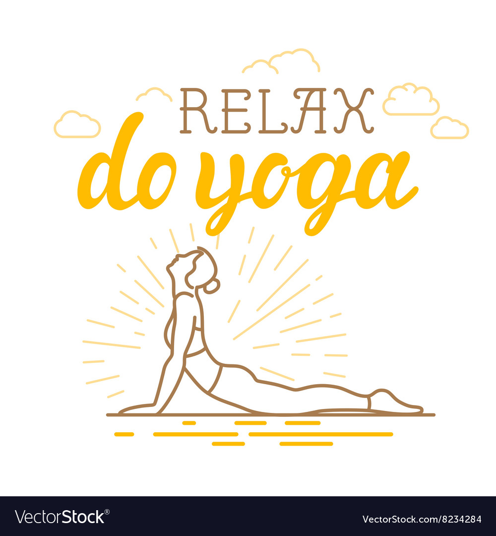 Yoga and sport motivation banner vector
