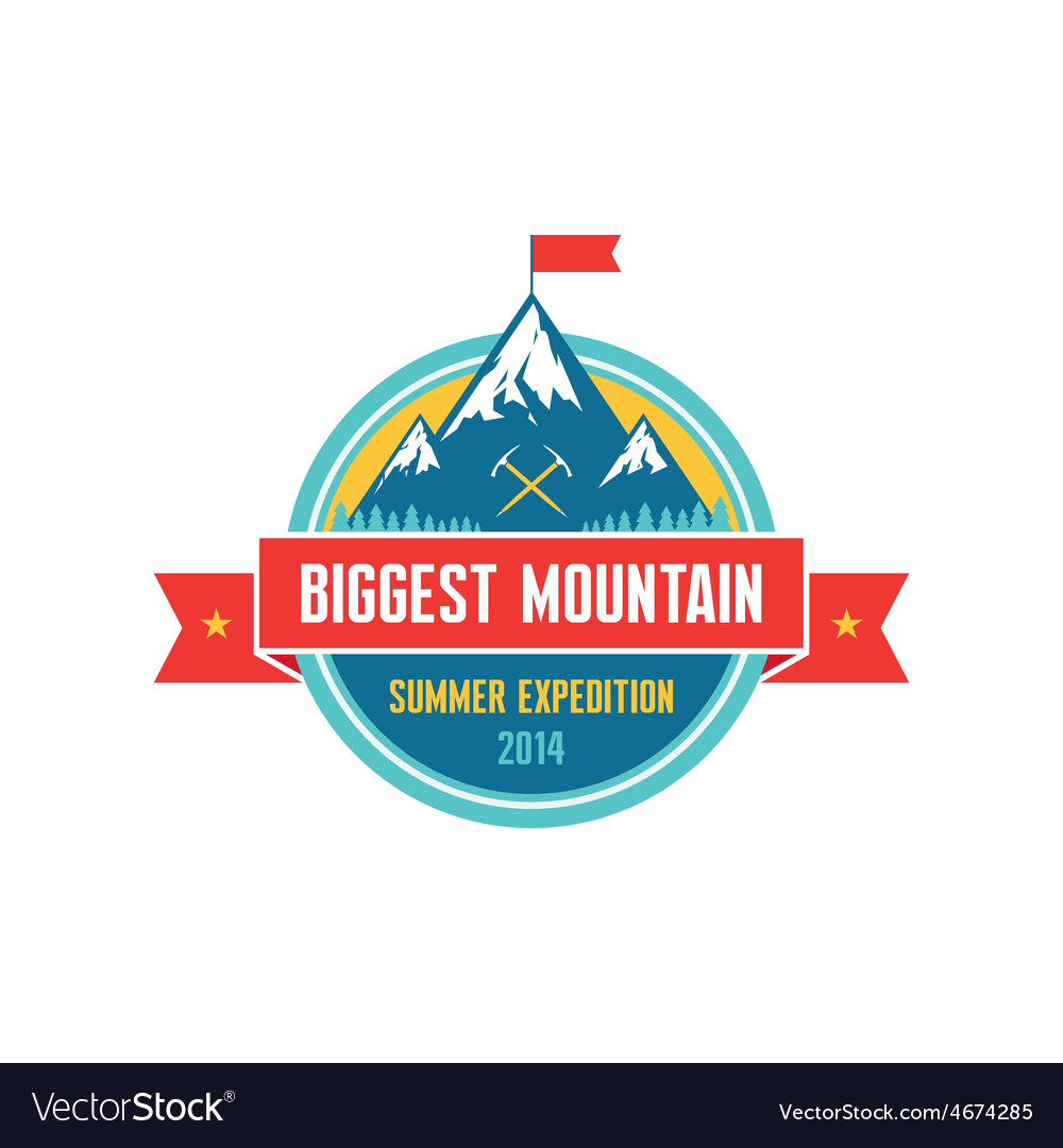 Biggest mountain  summer expedition  logo vector