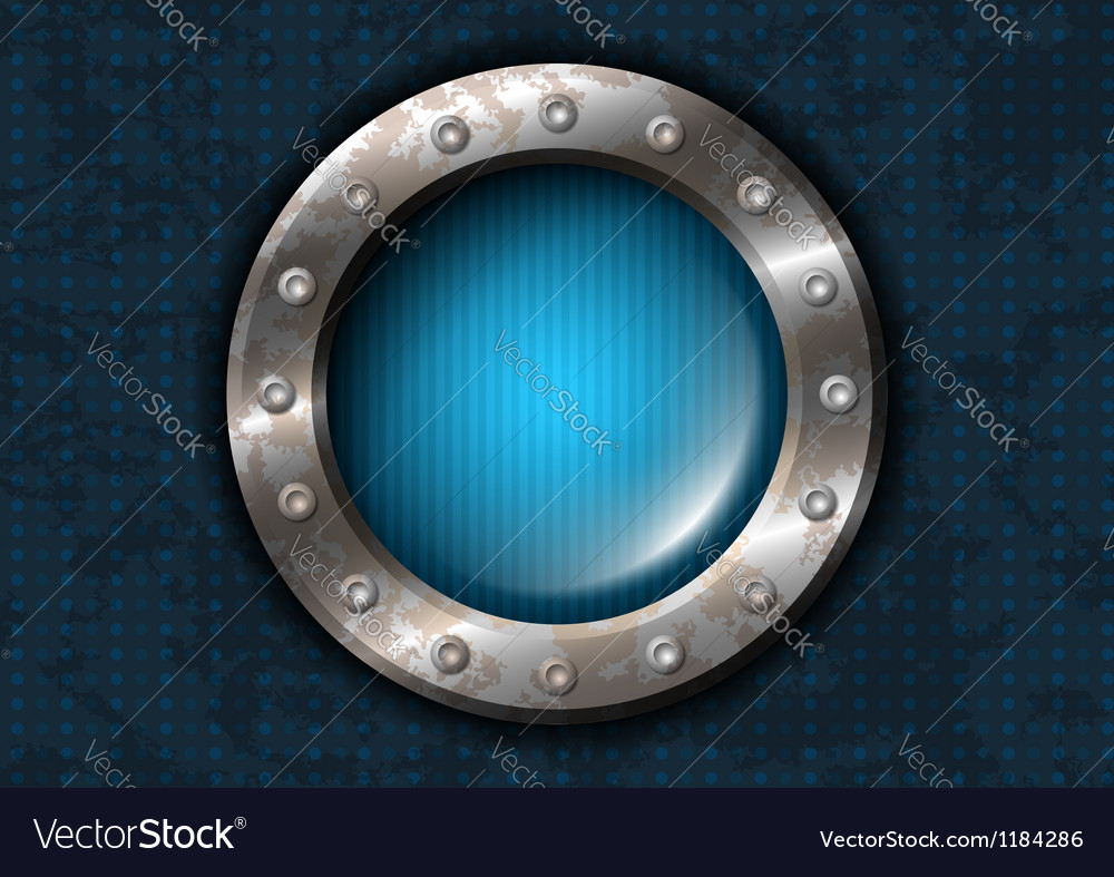 Metal circle with rivets vector