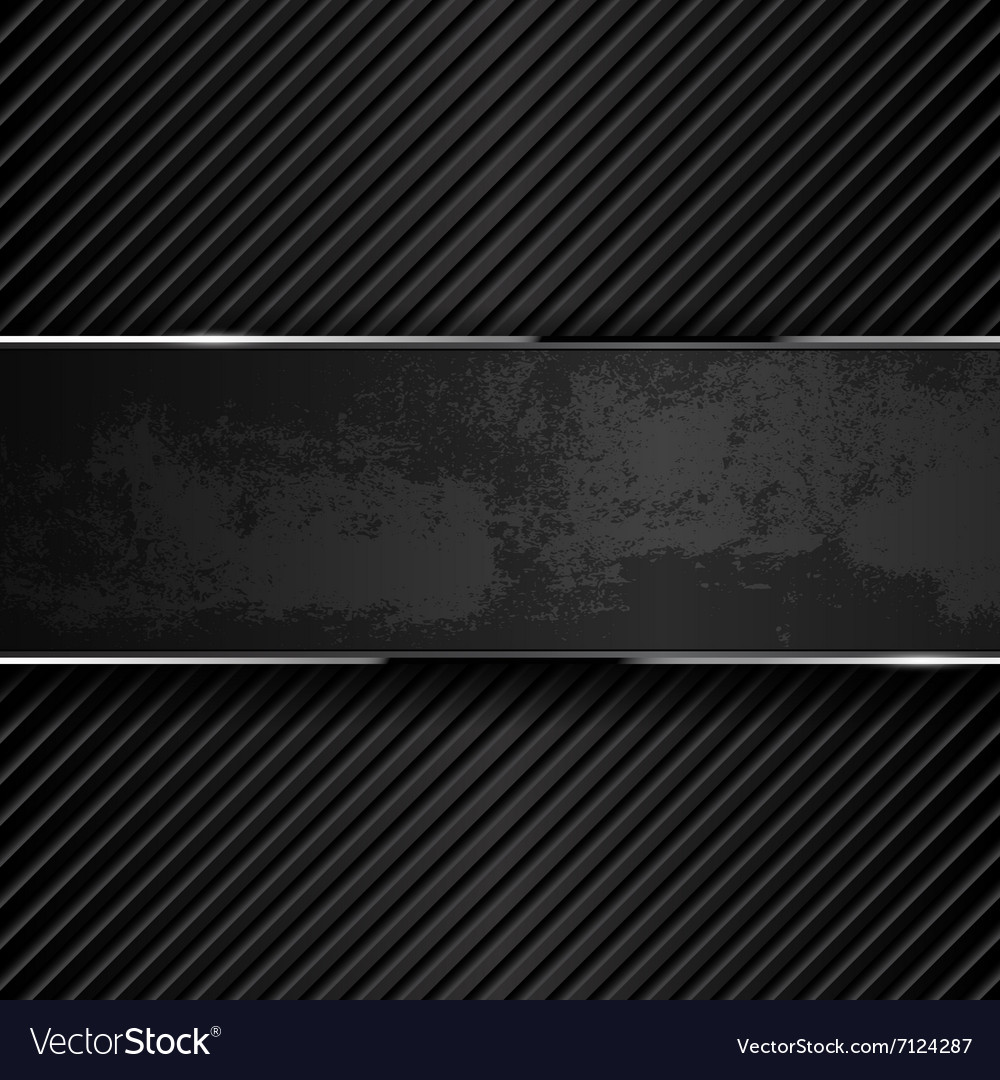 Dark grunge metal backgrounds vector