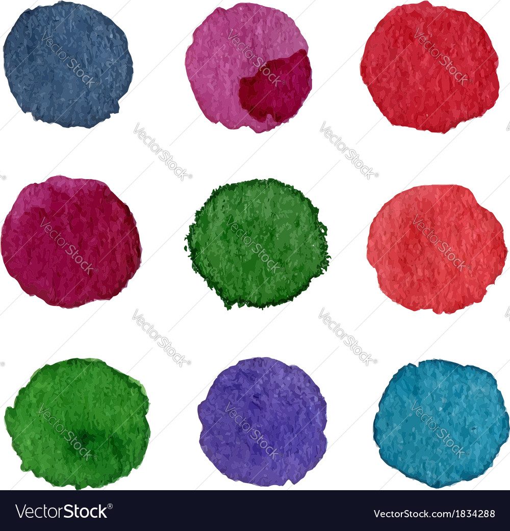 Watercolor labels vector