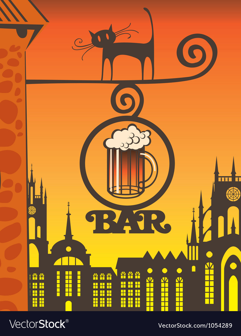 Beer bar vector