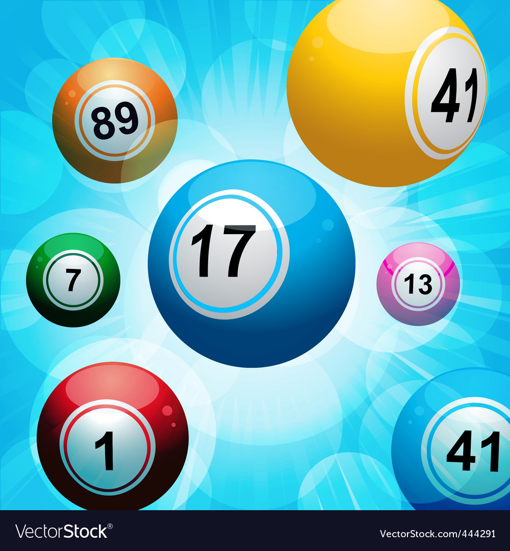 Bingo ball burst vector