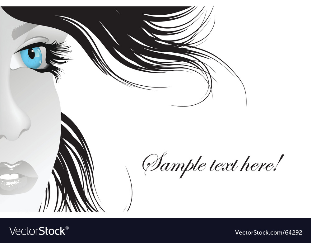 Blue eye vector
