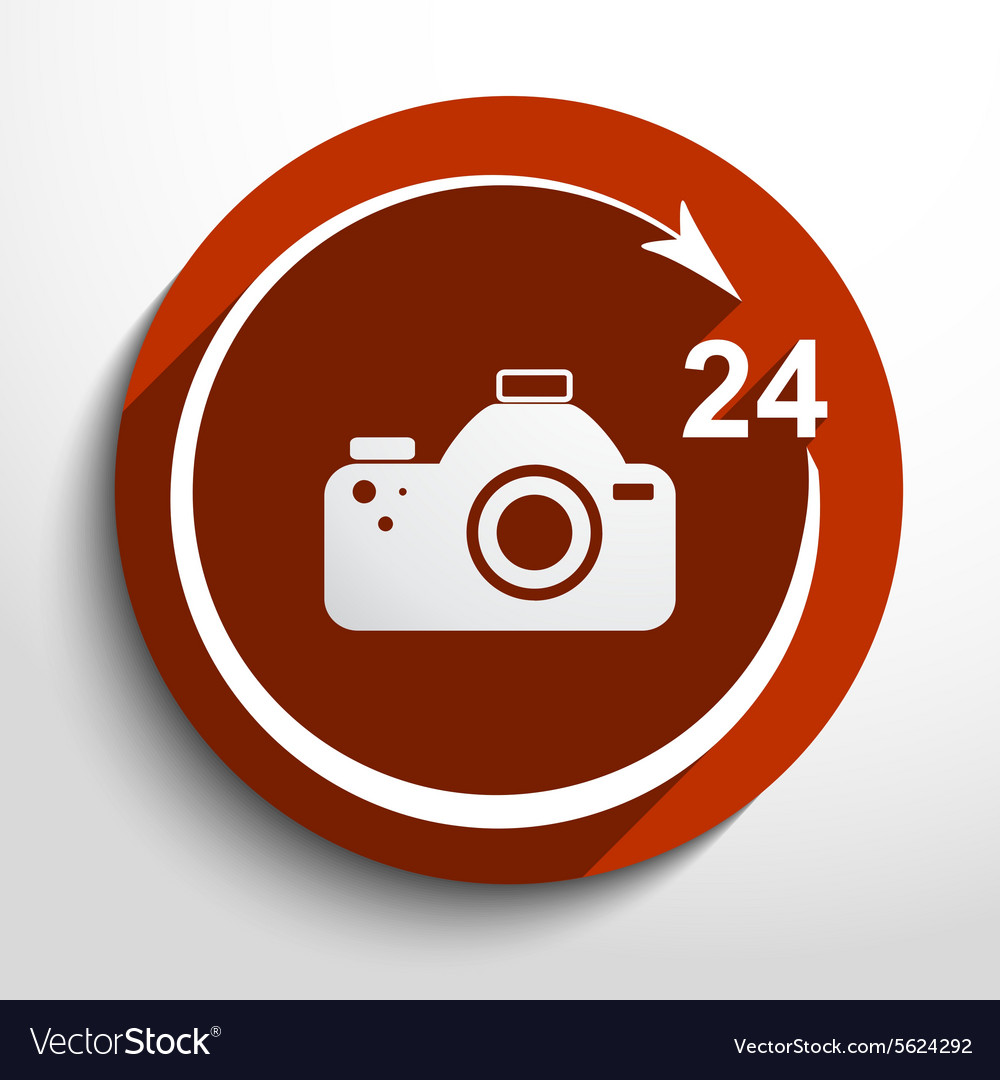 Photo studio 24 hours service vector