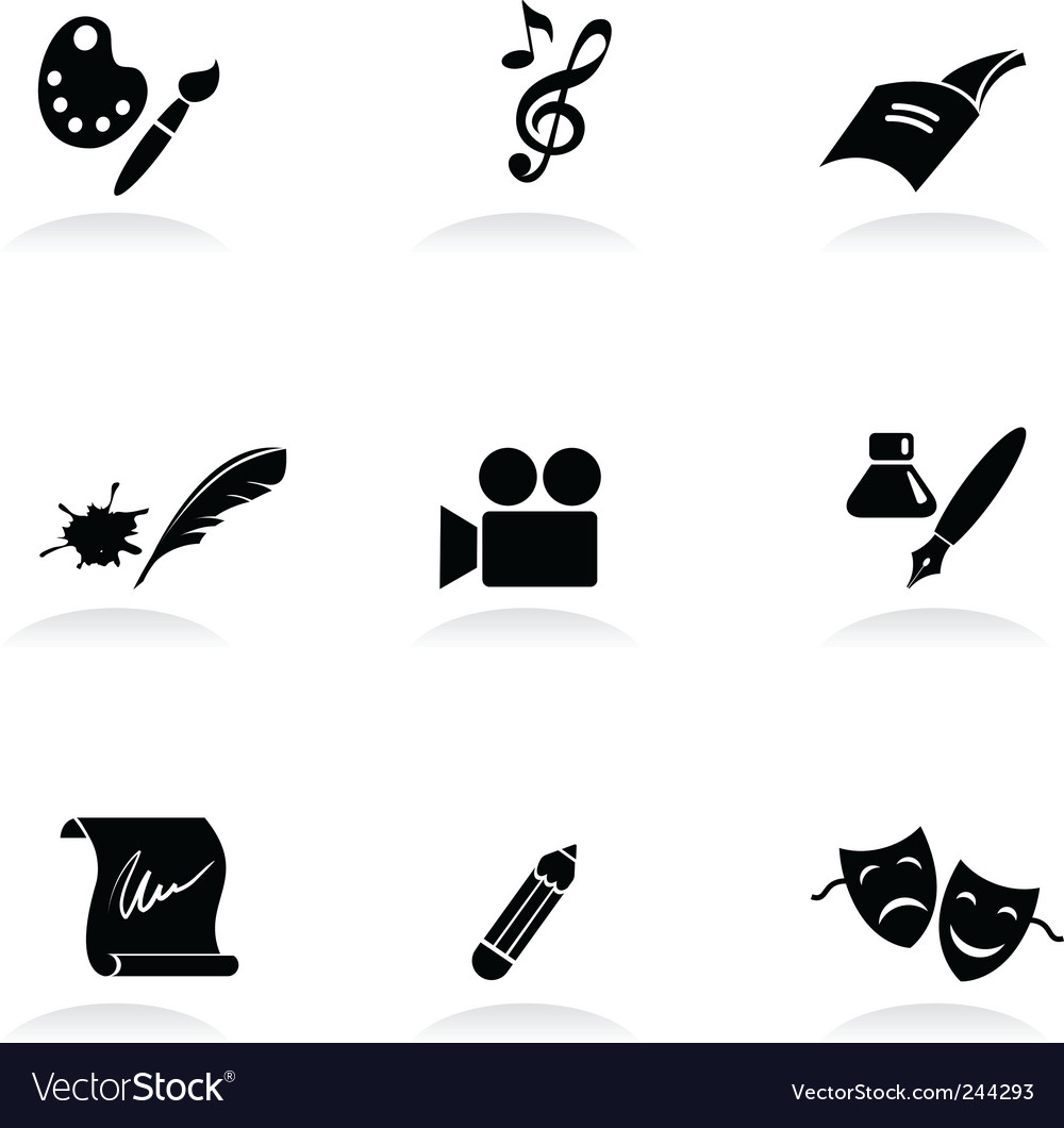 Arts icons vector