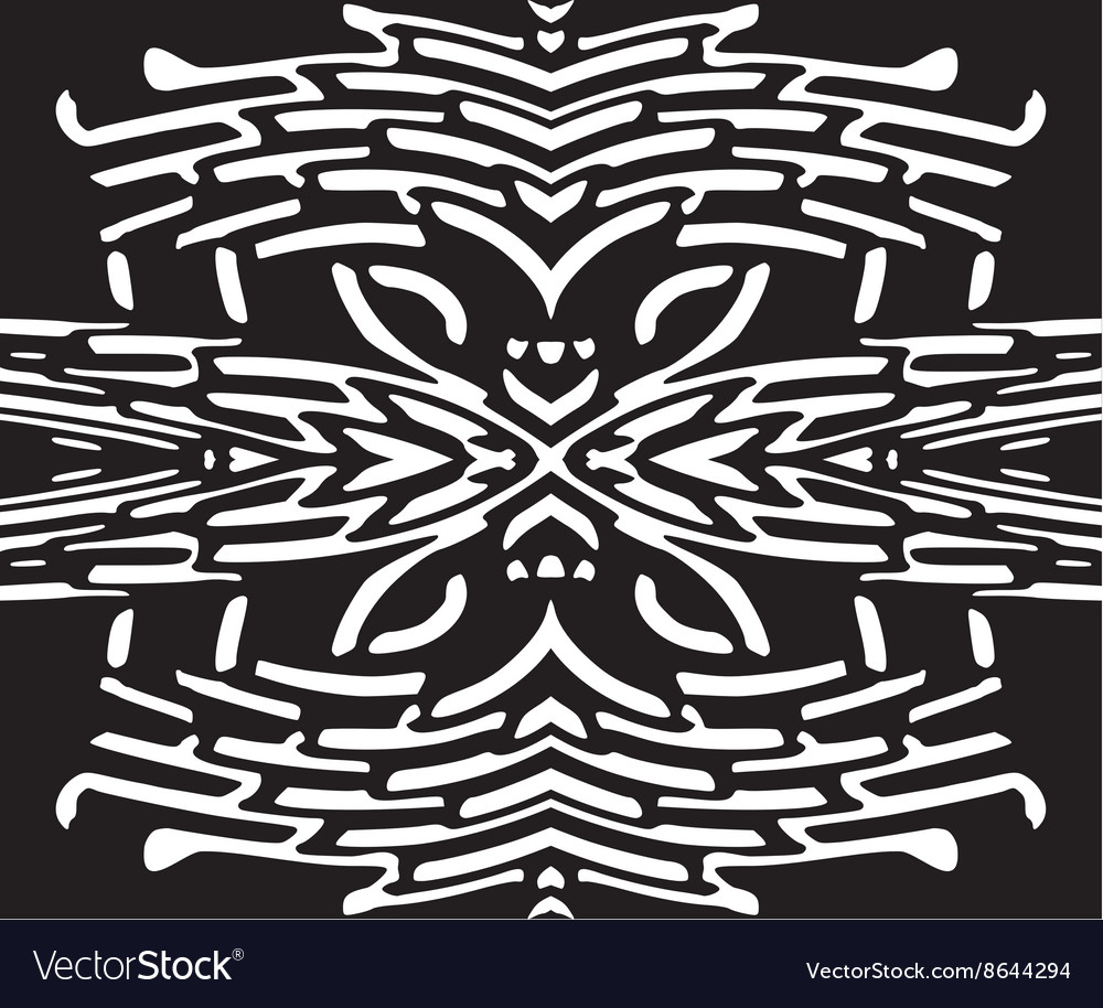 Abstract seamless black and white pattern vector