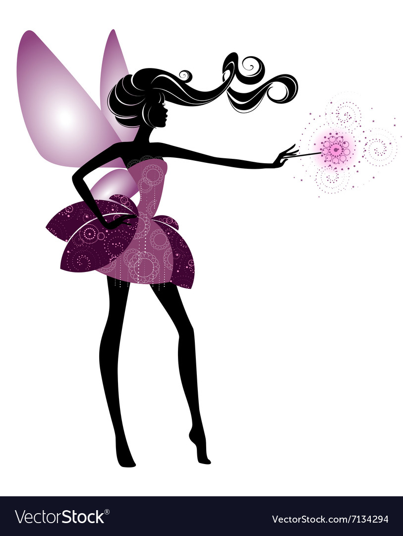 Fairy girl in elegant dress vector