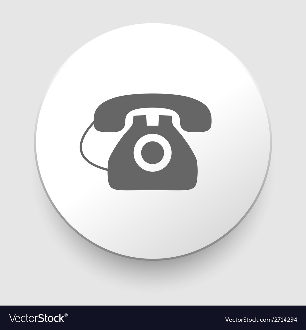 Image of a vintage telephone isolated vector