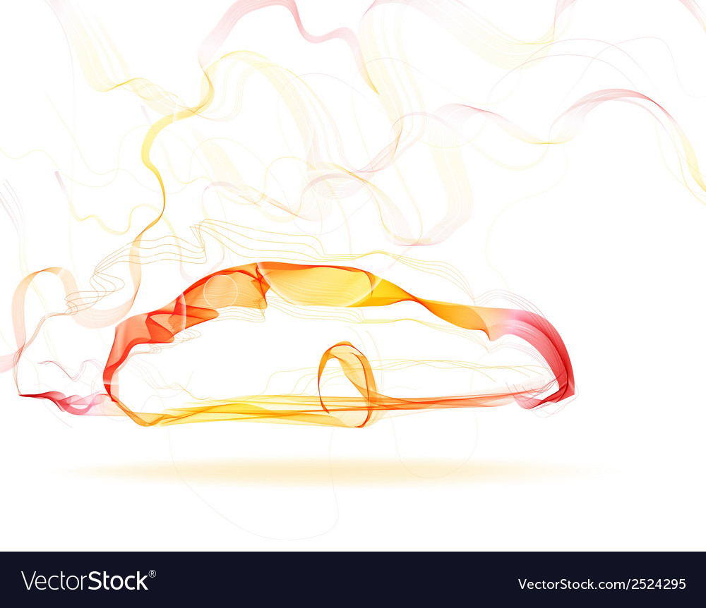 Abstract car color lines vector