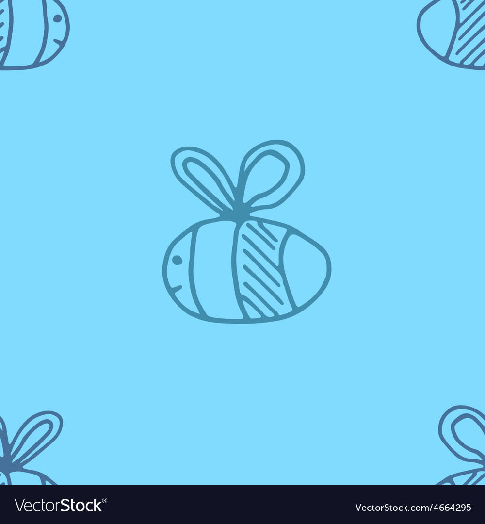 Bee pattern abstract animal art seamess background vector