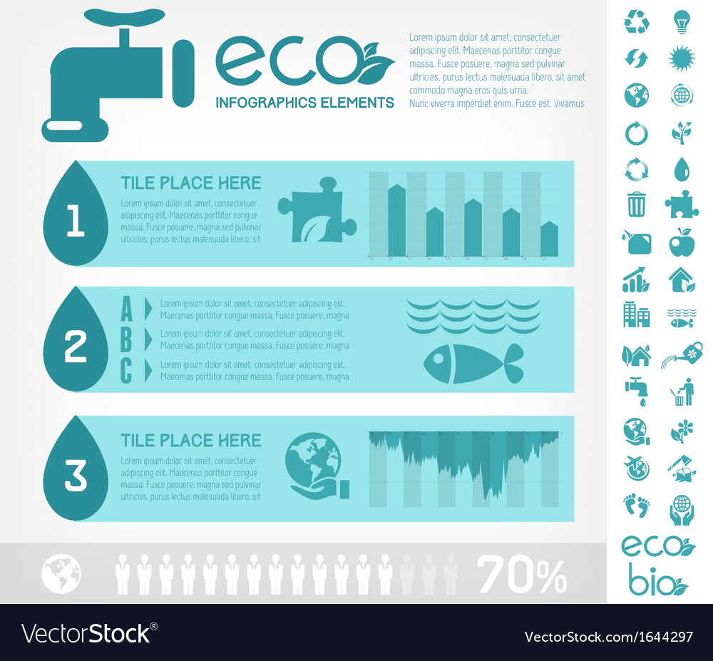 Water conservation infographic template vector
