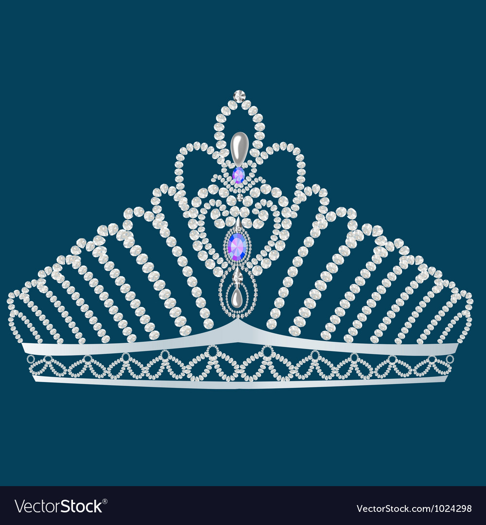 Gem crown vector