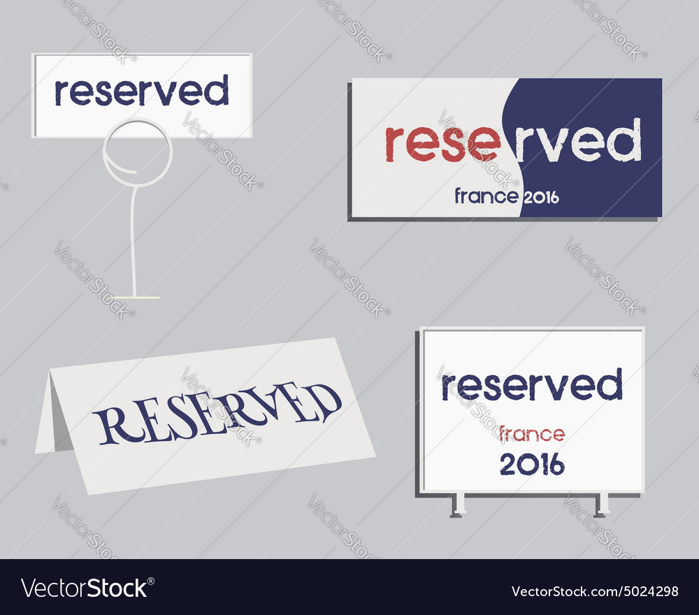 Reservation sign france 2016 football design the vector