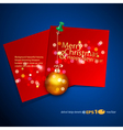 holiday background with a red card vector image vector image