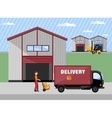 Warehouse process infographics banners vector image