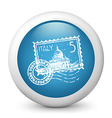 Postage Glossy Icon vector image vector image