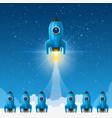 space leader rocket launch creative idea vector image