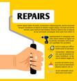 repair tools poster design vector image vector image