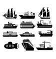 boat and ship vector image vector image
