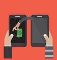 mobile banking money stealing vector image