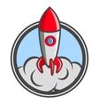 Starting up rocket emblem vector image