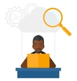 Man working in office vector image