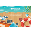 summer and travel flat banner template vector image