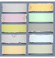 Ten notes paper in pastel colors vector image vector image