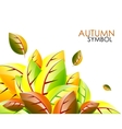 abstract autumn leaf background vector image vector image
