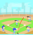 baseball concept cartoon style vector image