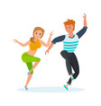 boy and girl modern popular hip-hop dance vector image