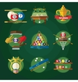 Conceptual Billiards Icon Set vector image