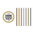 different metallic material and color style chains vector image