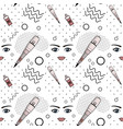 seamless pattern of equipment for permanent vector image