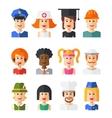 Set of isolated flat design people icon avatars vector image
