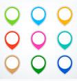set of map pins vector image