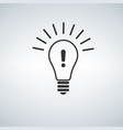 warning light bulb design exclamation mark vector image