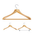 wooden clothes hangers set for jackets vector image