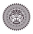 polynesian mask vector image vector image