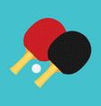 table tennis flat vector image