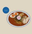 japanese cuisine soup ramen sketch vector image