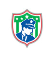 Security Guard Police Officer Shield vector image vector image