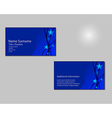 Blue Business card layout with blue stars on vector image