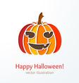 Colorful cutout smiling pumpkin vector image